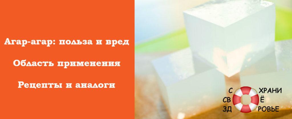 Рецепты с агар-агаром
